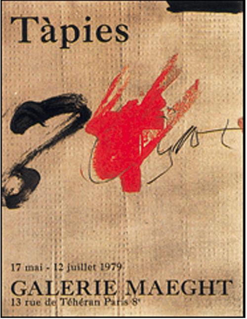 antonio tapies uden titel gallerie maeght 1979