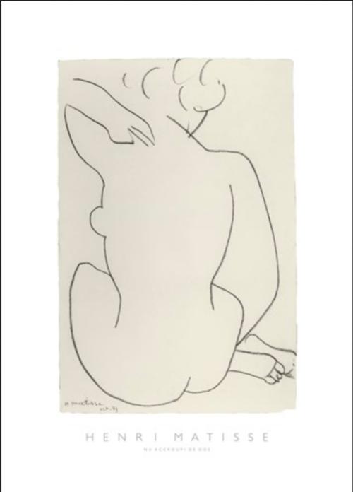 Henri Matisse Nu accroupi de Dos