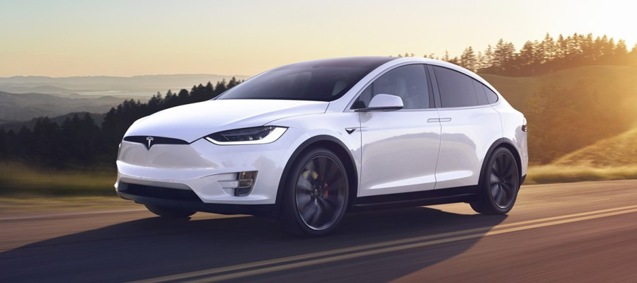 Tesla Model X blanco