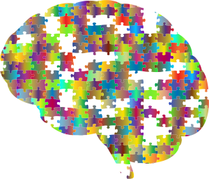 Graphic of a brain made up of puzzle pieces