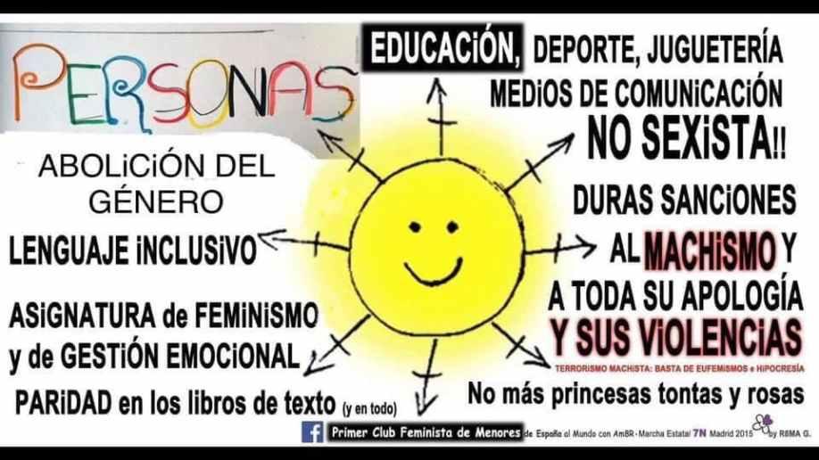 Pancarta Sol Feminista