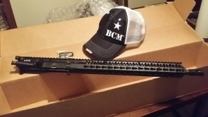 "BCM mid-length upper with ""15 KMR"