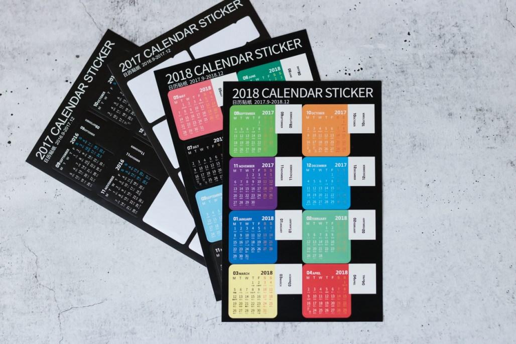 bullet journal supplies calendar tab sticker sheet