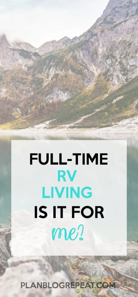 RV full-time living is it for me?
