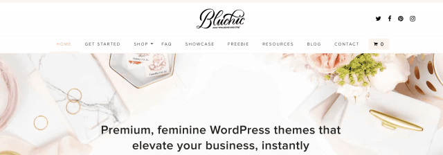 Start a blog with a Bluchic theme.