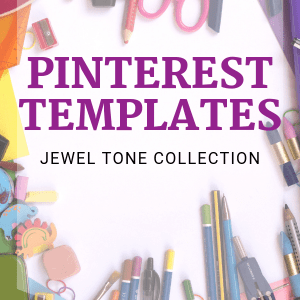 Pinterest Templates - Jewel Tone Collection