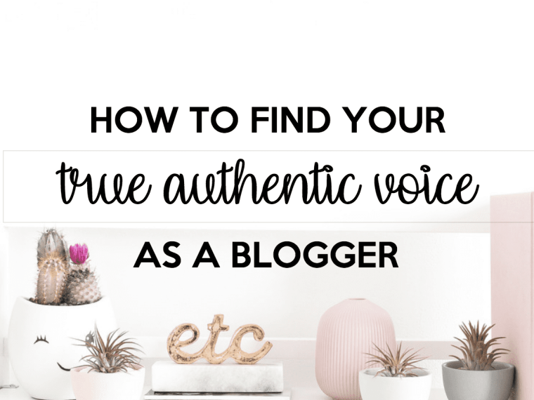 How to find your true authentic voice.