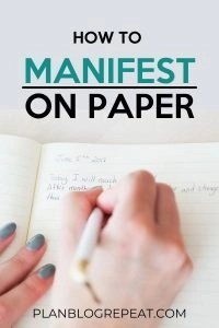 How To Manifest On Paper
