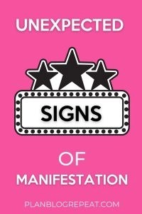 Unexpected Signs Of Manifestation