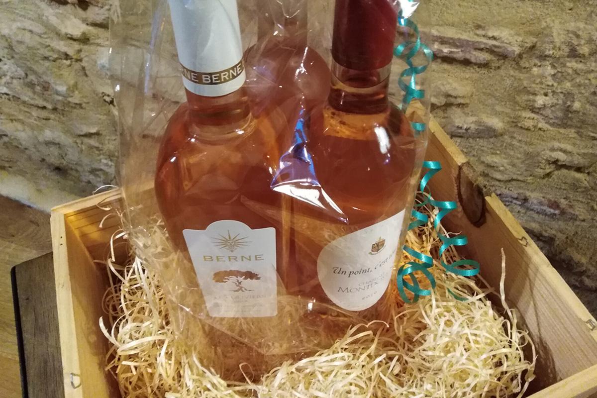 Rosé wine gift set