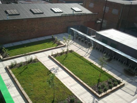 Outdoor area and bike racks @ Software Centre