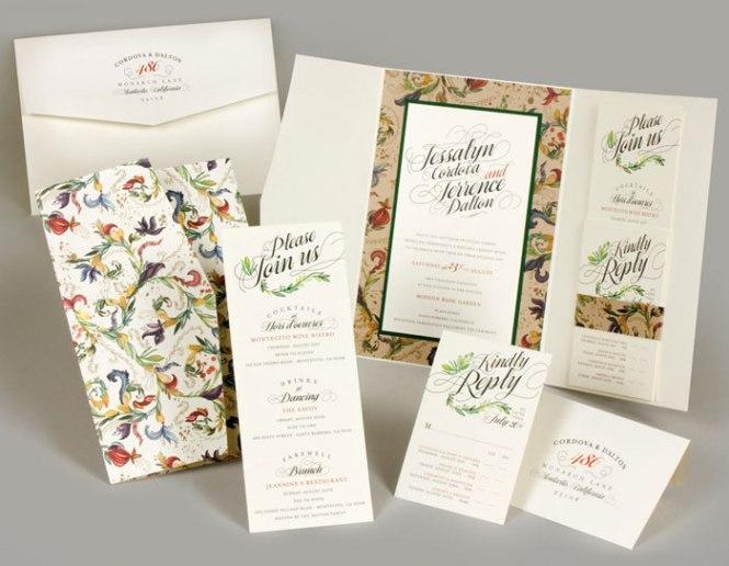 Wedding Invitation Letterpress Cut Cmyk Printing