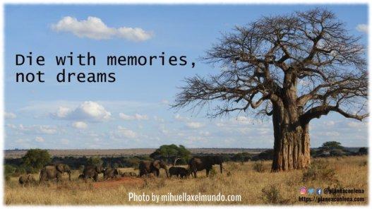 Die with memories, not dreams