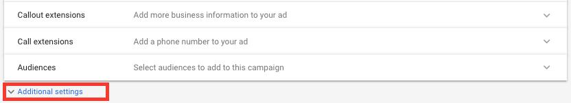 Configura Es Adicionais Google Ads