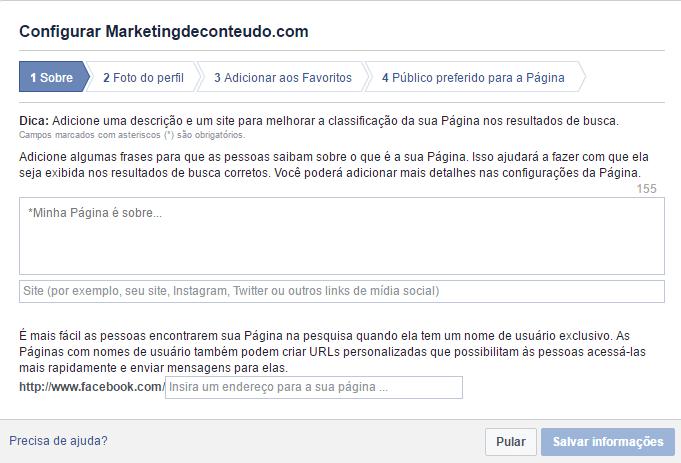 criar uma pagina no facebook para sua empresa 11