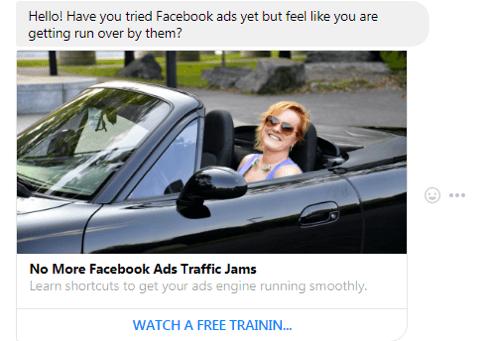 Mensagem Patrocinada Facebook