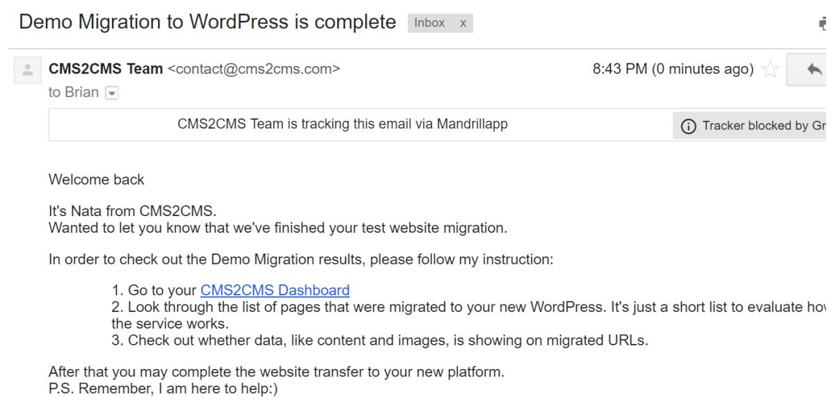 1554933208 9284 Demo Migration Complete