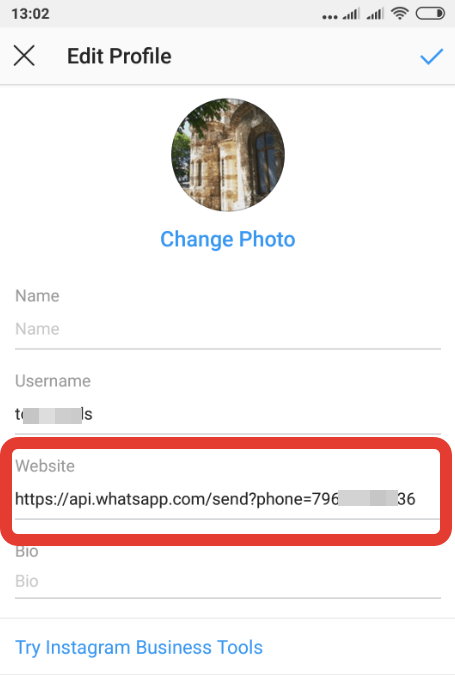 Como Colocar Link Do Whatsapp No Instagram