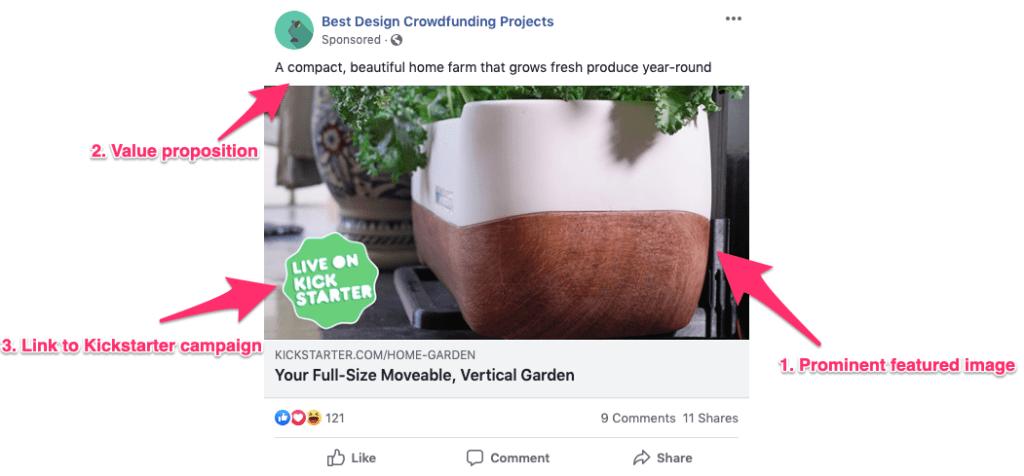 Modelo de Anúncio - lançamento do produto no facebook