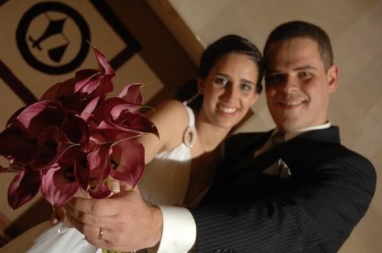Casamento da Ana: o buquê da noiva
