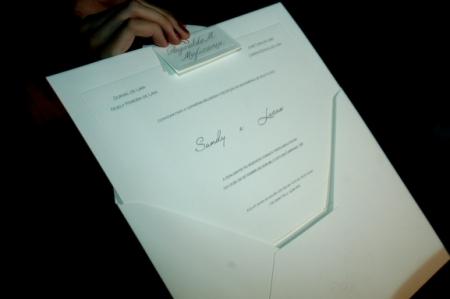 Convite de casamento da Sandy