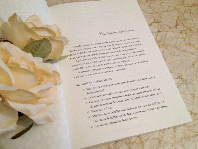 Lista de casamento no livro Planejando Meu Casamento. Foto: Planejando Meu Casamento.