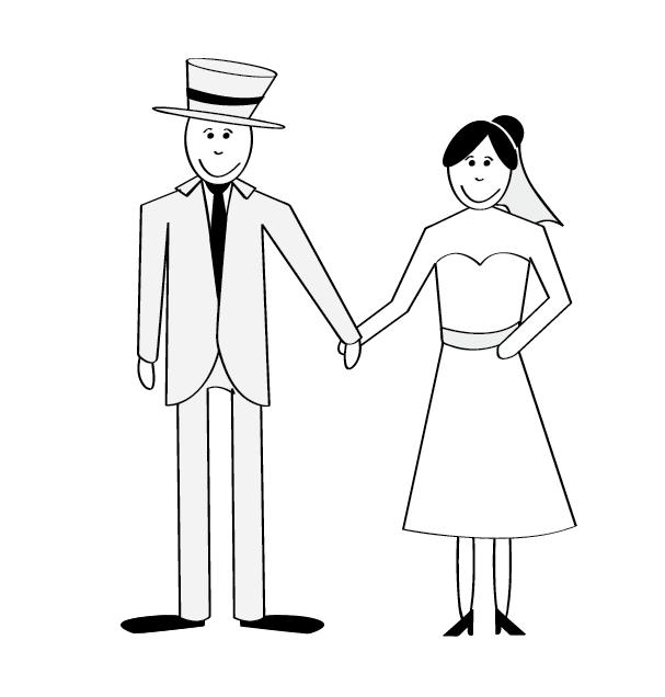 Desenhos De Noivinhos Para Convites De Casamento Planejando Meu