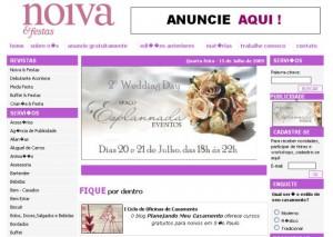 Planejando Meu Casamento no site da revista Noiva & Festas