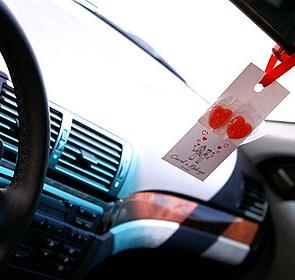 Tag de agradecimento para carros em casamentos.