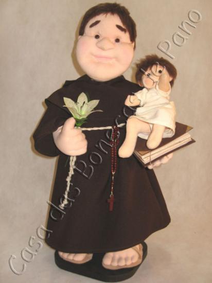 Boneco de Santo Antônio para jogar no casamento. Foto: Casa das Bonecas.