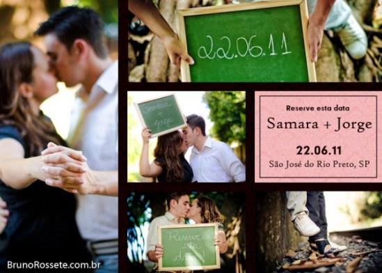 Save the Date de casamento com foto