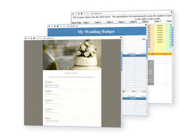 Planilhas de organização de casamento do Google Weddings