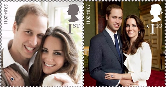 Selo postal britânico: casamento do príncipe William e Kate Midleton