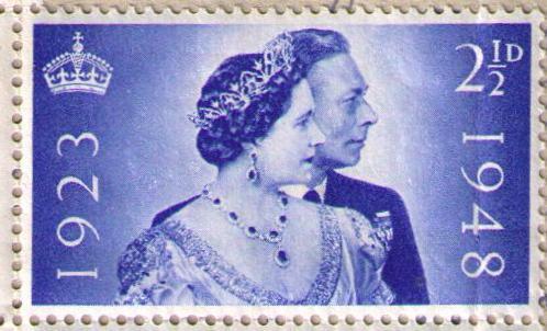 Selo postal britânico: casamento da rainha Elizabeth II e príncipe Philip