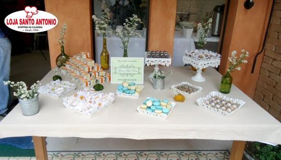 Mesa de doces do II Ciclo de Oficinas de Casamento