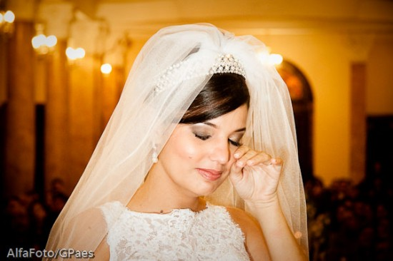 Noiva chorando