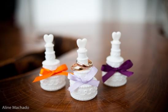 Bolha de sabão para casamento em embalagem fofa. Foto: Aline Machado.