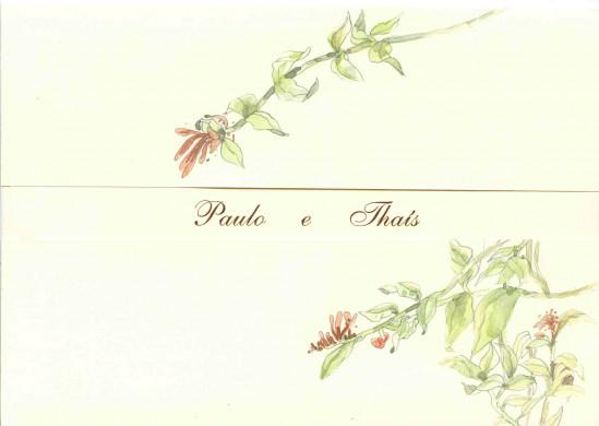 Convite de casamento pintado à mão em aquarela. Da Dwearts.