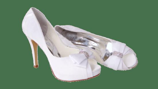 Calçados de noiva: meia pata branco Durval Calçados