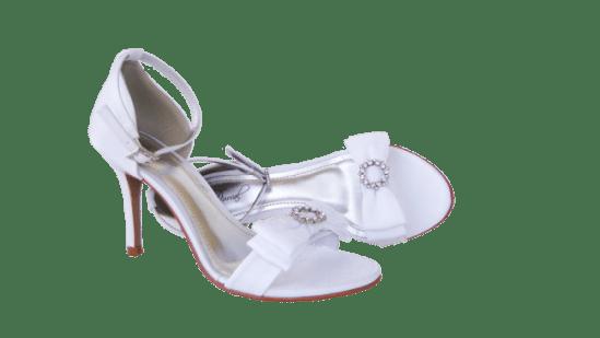 Calçados de noiva: sandália de noiva branca da Durval Calçados