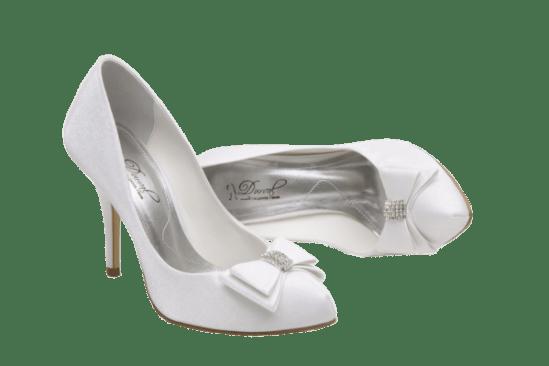 Calçados de noiva: scarpin branco Durval Calçados