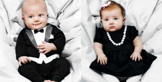 Roupinhas de casamento para bebês: vestido para meninas e smoking para meninos