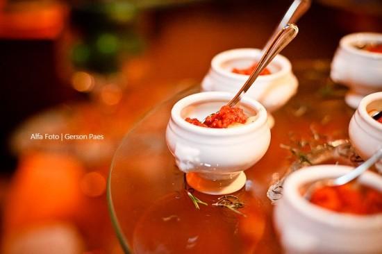 Finger foods de casamento: polentinha. Foto: Alfa Foto.