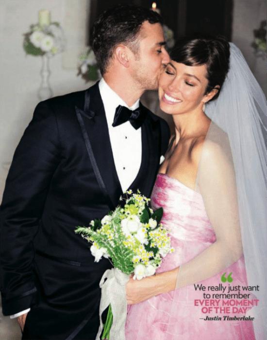 Casamento de Justin Timberlake e Jessica Biel: o buquê da noiva de margaridas.