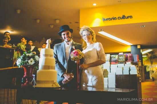 Casamento na Livraria Cultura. Foto: Mario Lima Fotografia.