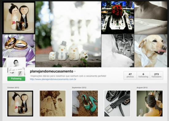 Planejando Meu Casamento no Instagram