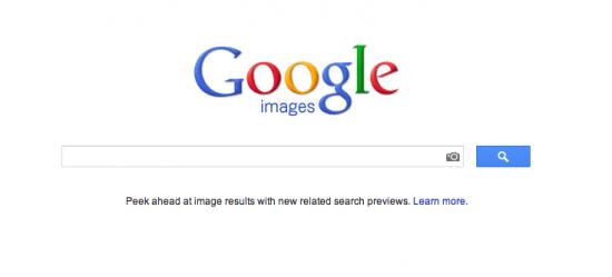 Busca de fotos no Google Imagens.