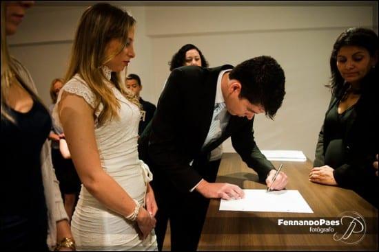 Casamento civil no cartório do Brooklin em São Paulo. Foto: Fernando Paes.