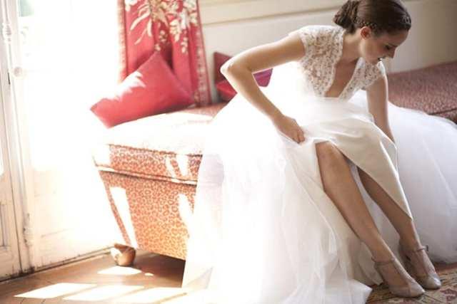 Sapato de noiva lilás lavanda Repetto. Foto: Les Productions de la Fabrik.