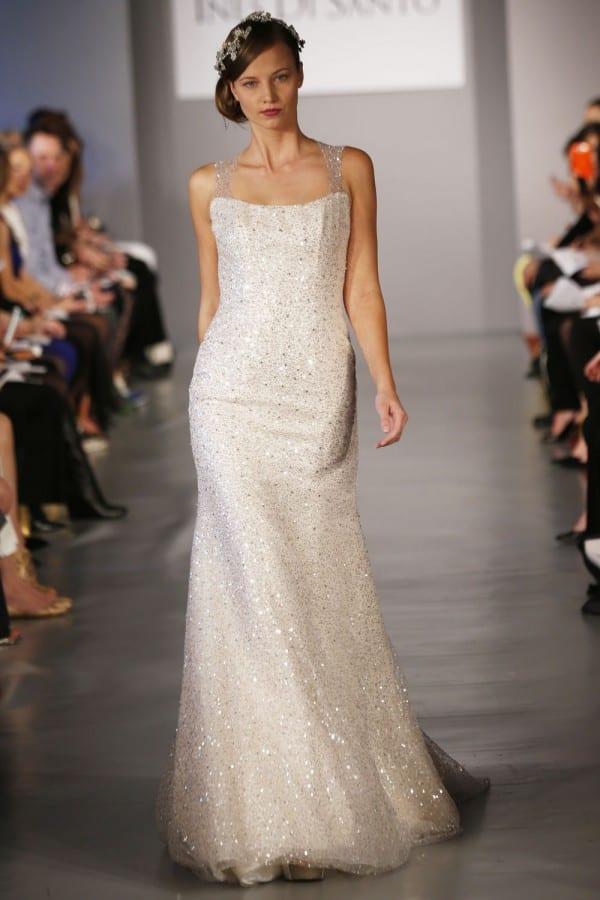 Vestido de noiva com cristais Swarovski de Ines Di Santo.